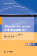 Advances in Education and Management