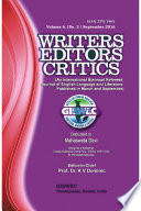 Writers Editors Critics  WEC  Vol  6  No  2