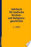 Jahrbuch für badische Kirchen- und Religionsgeschichte 1