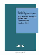 Geochemical Processes in Soil and Groundwater