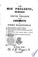 Le mie prigioni memorie di Silvio Pellico
