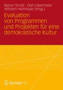 Evaluation von Programmen und Projekten für eine demokratische Kultur