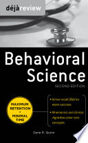 Deja Review Behavioral Science  Second Edition