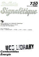 Bulletin signal  tique 730  Combustibles    nergie thermique