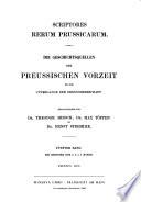 Scriptores rerum Prussicarum