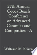 27th Annual Cocoa Beach Conference on Advanced Ceramics and Composites   A