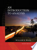 Introduction to Analysis, An,