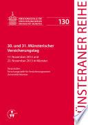 30. und 31. Münsterischer Versicherungstag