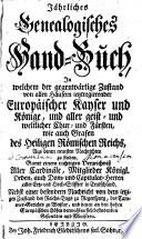Jährliches genealogisches Hand-Buch