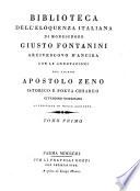 Biblioteca dell'eloquenza italiana, con le annotazioni di Apostolo Zeno