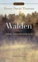 Walden and Civil Disobedience Book Cover
