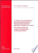 illustration du livre L'aspect d'autonomie et de communion dans la praxis africaine des recours à Rome (IIIe - Ve siècles)