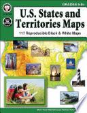 U S  States and Territories Maps  Grades 5   8
