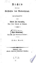 Archiv für die Geschichte des Niederrheins, hrsg. von Theodor Joseph Lacomblet