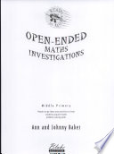 Open Ended Maths Investigations