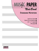 Music Paper Notebook   Standard Notation