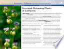 Livestock-Poisoning Plants of California