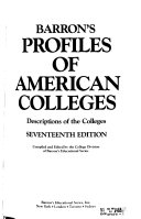 Barron s Profiles of American Colleges