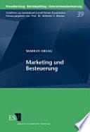Marketing und Besteuerung