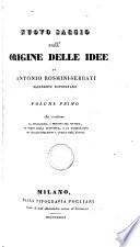 Nuovo saggio sull origine delle idee