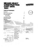 Means Heavy Construction Cost Data 1991 5th. Ed.