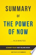 The Power of Now  by Eckhart Tolle   Summary   Analysis