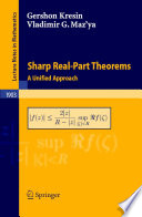 Sharp Real Part Theorems