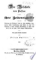 Die bischöfe von Passau und ihre zeitereignisse