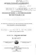 download ebook muret-sanders encyklopädisches englisch-deutsches und deutsch-englisches wörterbuch pdf epub