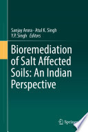 Bioremediation of Salt Affected Soils  An Indian Perspective