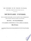Dictionnaire universel de la langue française, avec le latin et les étymologies ...