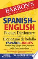Barron S Spanish English Pocket Dictionary