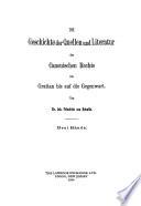 Die Geschichte der Quellen und Literatur des canonischen Rechts von Gratian bis auf die Gegenwart