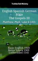 English Spanish German Bible The Gospels Iii Matthew Mark Luke John