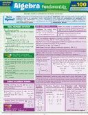 QuickStudy Quizzer Algebra Fundamentals