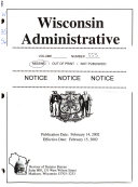 Wisconsin Administrative Register Book PDF