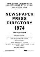 Newspaper Press Directory book