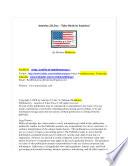 America 2.0, Inc. - Take Stock In America!