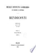 Rendiconti - Istituto lombardo, Accademia di scienze e lettere