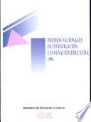 Premios nacionales de investigación educativa 1996
