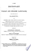 New Dictionary of the Italian and English Languages ..