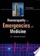 Homoeopathy in Emergencies of Medicine