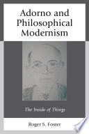 Adorno and Philosophical Modernism