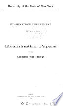 Examination Papers For The Academic Year