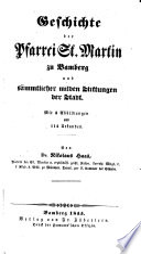 Geschichte der Pfarrei St. Martin zu Bamberg (etc.)
