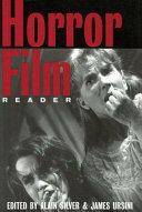 Ebook The Horror Film Reader Epub Alain Silver,James Ursini Apps Read Mobile