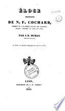 Eloge historique de N. F. Cochard, membre de l'Académie royale des sciences, belles-lettres et arts de Lyon