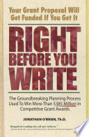 Right Before You Write