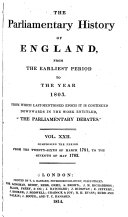 download ebook the parliamentary history of england, from the earliest period to the year 1803 pdf epub