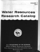 Water Resources Research Catalog book